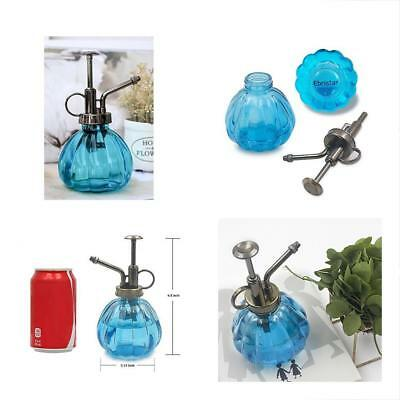 "Plant Mister, 6.5"" Tall Vintage Style Decorative Glass Water Spray Bottle With"