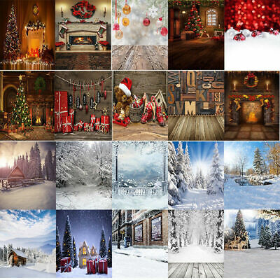 Christmas Xmas Winter Snowy Forest Photography Backdrop Background Studio Props