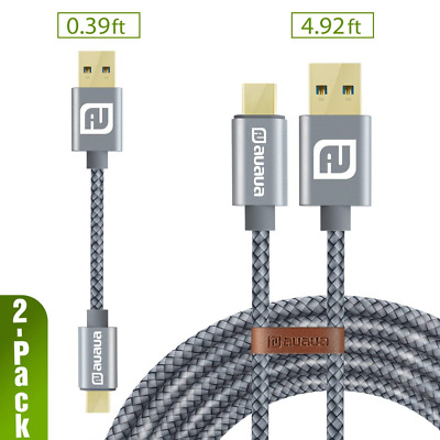USB Type C Cable Nylon Braided Fast Charger Cord for Samsung Galaxy Note Google