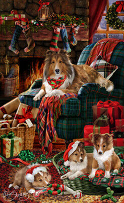 Holidays Christmas Cross Stitch Pattern_Shetland Sheepdog_