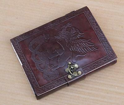 Medieval Renaissance Single Dragons Leather Handmade Journal Diary