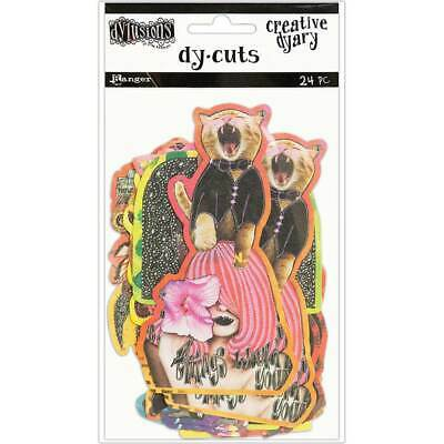 Dyan Reaveley's Dylusions Creative Dyary Die Cuts 24/Pkg - Set 6 DYE60147