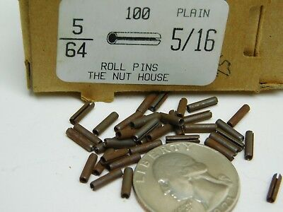 "(100 PACK) 5/64"" Dia x 5/16"" Length Plain Slotted Roll Spring Pin FREE SHIP! NH"