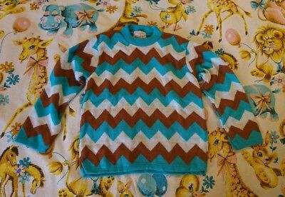 Vintage Trekka Childs Jumper 80s Colourful Striped Age 7 8 9 boys girls