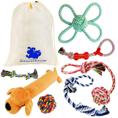 Dog Toys Rope for Small & Medium Dogs(7 Pack Set)- Chew - 100% Nature NEW US