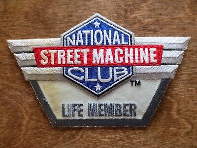 1970s National Street Machine Club Life Member Jacket Cloth Patch Automobile Car