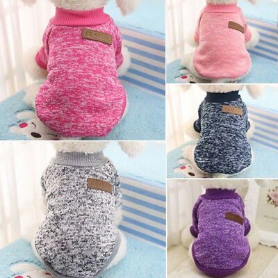 Small Dog Sweater Chihuahua Clothes XS Christmas Pet Cat Jumper Winter Vest Coat