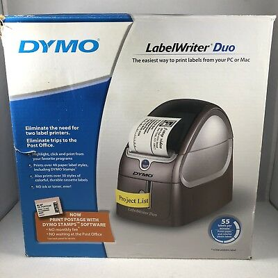 DYMO LABELWRITER 450 Duo Thermal Printer USB Compact LW BW 600dpi