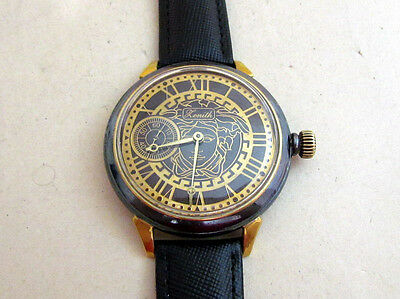 ZENITH Art Deco Swiss Vintage men's Mechanical Wristwatch Servised