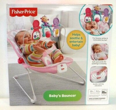 Fisher-Price Baby's Bouncer Pink Ellipse One Size 2 IN 1 SOOTHING & FUN 3117 []