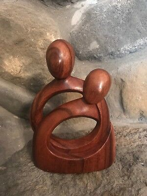 NOVICA COLLECTION BY W. RENDAH  Eternity Of Love Romantic Wood Sculpture