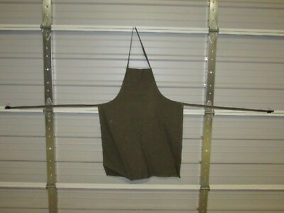 "NEW HEAVY DUTY COTTON WORK APRON, 33"" x 25"", OLIVE GREEN (BB)"