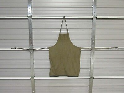 "NEW HEAVY DUTY COTTON WORK APRON, 33"" x 25"", BROWN HORSE (CC)"