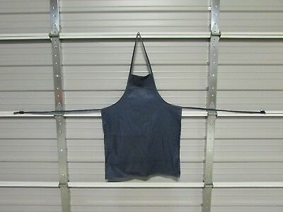 "NEW HEAVY DUTY COTTON WORK APRON, 33"" x 25"", MIDNIGHT BLUE (DD)"