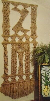 Make This Vintage Macrame Wall Hanging - Copy Pattern Only