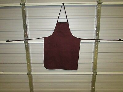 "NEW HEAVY DUTY COTTON WORK APRON, 33"" x 25"", DENIM WINE (QQ)"
