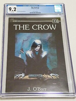 The Crow #2 CGC 9.2 NM- White Pages 1st Print Caliber Press 1989 Jim O'Barr