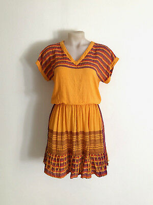 Vintage 1980s multi stripe/plaid orange two piece skirt and top combination