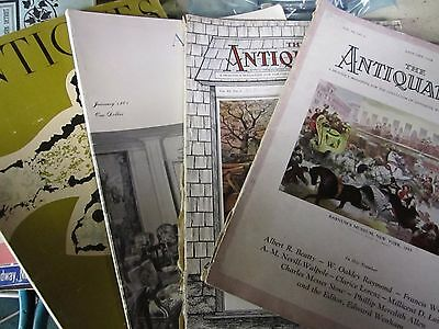 Lot of 4 The Antiquarian Magazine  Jan & Nov 1928 & Antiques Magazine 3/55 &1/61