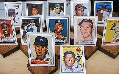 Hamilton Collection Porcelain Baseball Cards Dream Team 1990 Numbered 12 Cards