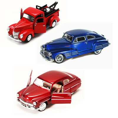 Best of 1940s Diecast Cars - Set 20 - Set of Three 1/24 Scale Diecast Model Cars