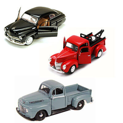 Best of 1940s Diecast Cars - Set 36 - Set of Three 1/24 Scale Diecast Model Cars
