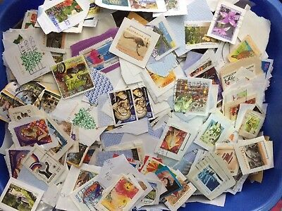 KILOWARE 500 Used Australian Stamps on Paper Australia
