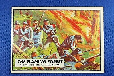 "1962 Topps Civil War News - #61 ""The Flaming Forest"" - Ex Condition"