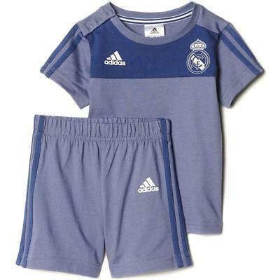 various colors c634e aa638 Real Madrid Adidas Viola Neonati 3 Righe Calcio Mini Maglietta