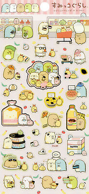 "San-X Sumikko Gurashi ""Fried Shrimp Tail's Errand"" Stickers (Pink)"