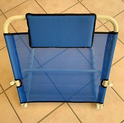 Back Rest for Use in Bed Comfortable Folding Support Blue Adjustable Angle New
