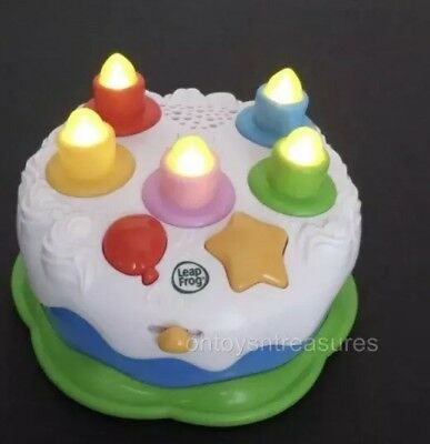 LEAP FROG Counting Candles Birthday Cake Light Up Musical Learning Toy