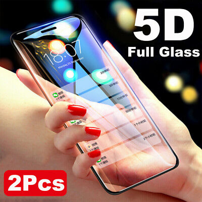 1/2x For iPhone Xs Max XR 2018 5D Curved Tempered Glass Screen Protector Guard M