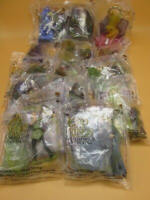 The Lord Of The Rings Lot 14 Toys NEW Sealed Burger King 2001 Fellowship NEW