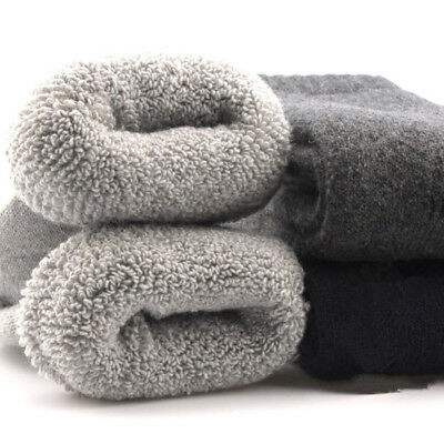 5 Pairs Mens Wool Thick Thermal Solid Casual Dress Rabbit Winter Socks Lot 7-10