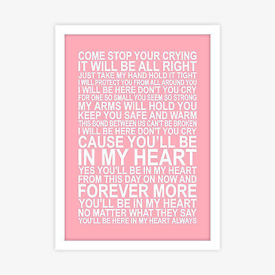 Phil Collins You'll Be In My Heart Tarzan and Jane Poster Print Song Lyrics