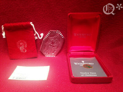 1993 Waterford Crystal Ornament 12 days of Christmas 10 Lords Leaping