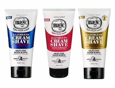 3 Pack Offer - Softsheen Carson Magic Razorless Cream Shave - No Shaving Blade
