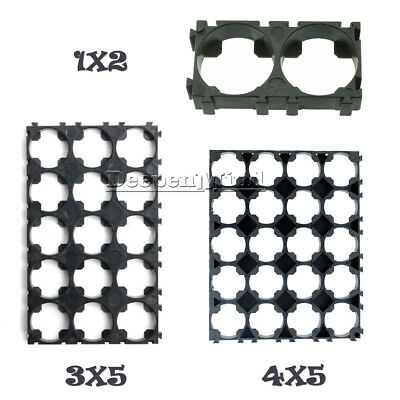 1/2/10PCS 1x2 3x5 4x5 Cell 18650 Battery Spacer Shell Pack Plastic Heat Holder