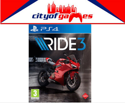 Ride 3 PS4 Game Brand New & Sealed Pre Order