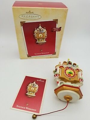 Hallmark Keepsake Ornament 2004 Christmas Ticktock Workshop Clock
