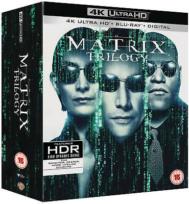 The Matrix Trilogy (1999-2003) 4K Blu-ray English,Spanish Lang Region Free A,B,C