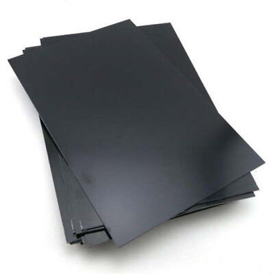 New Thickness ABS Styrene Plastic Flat Sheet Plate 200x300x1mm Black Industry