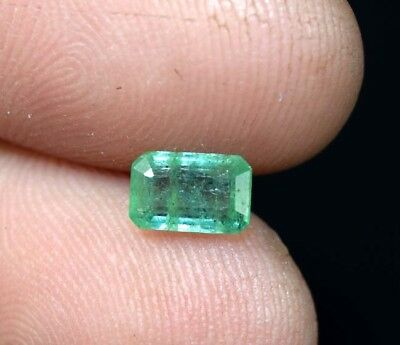 0.85 Cts. 100 % Natural Zambian Emerald  7*4.5*3mm Loose Gemstone Octagon Cut