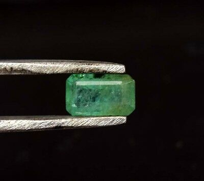 0.85 Cts. 100% Natural Zambia Emerald  7*4*3.5 mm  Loose Gemstone Octagon Cut