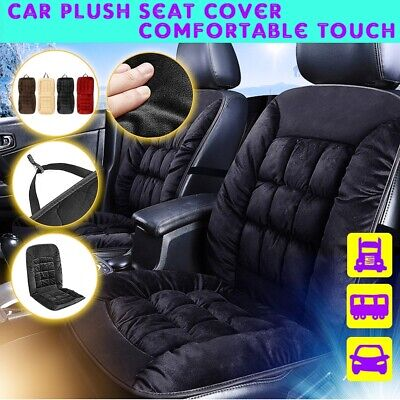 Black Universal Front Car Seat Cushion Comfortable Warm Cover Pad #Plush Cotton