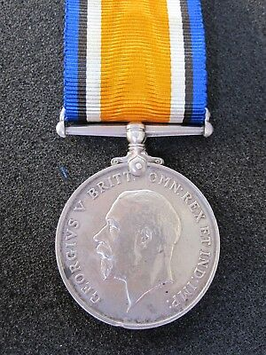 British WW1 British War Medal. Killed in Action Day One Battle of Loos. A&S High
