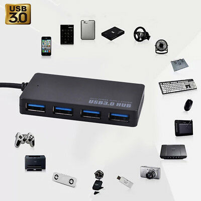 4 Port USB 3.0 Hub Super Speed For Mobile External Hard Disk MP3 Player Phone