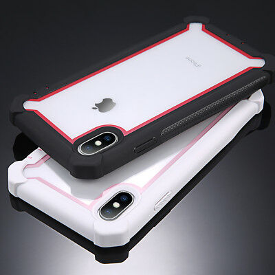 iPhone XS Max XR X 8 7 6 Case Cover Heavy Duty Shockproof Hybrid TPU Clear Armor