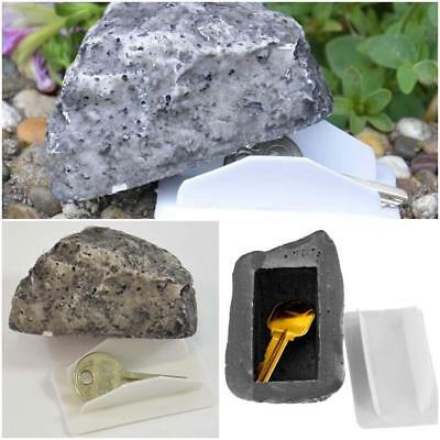 Yard Garden Outdoor Realistic Rock Hide A Key Holder Safe Stone Hider Storage KI